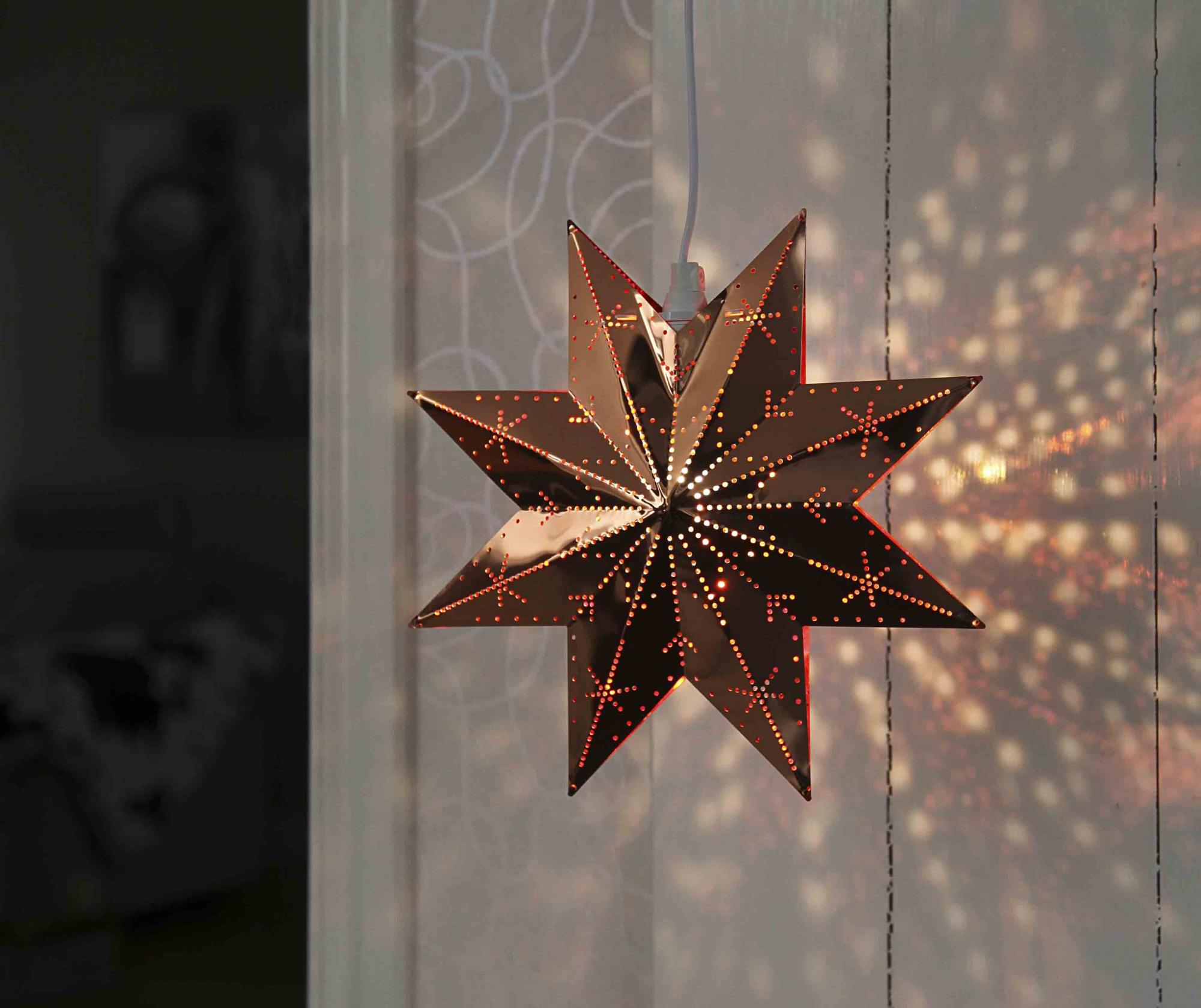 Decoratiune luminoasa suspendabila Star Copper - Best Season