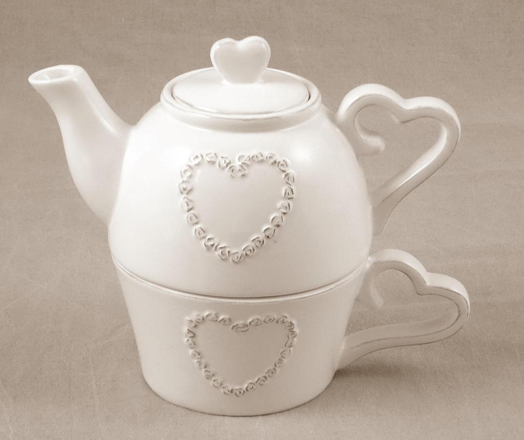 Set ceainic si ceasca Pure Heart imagine
