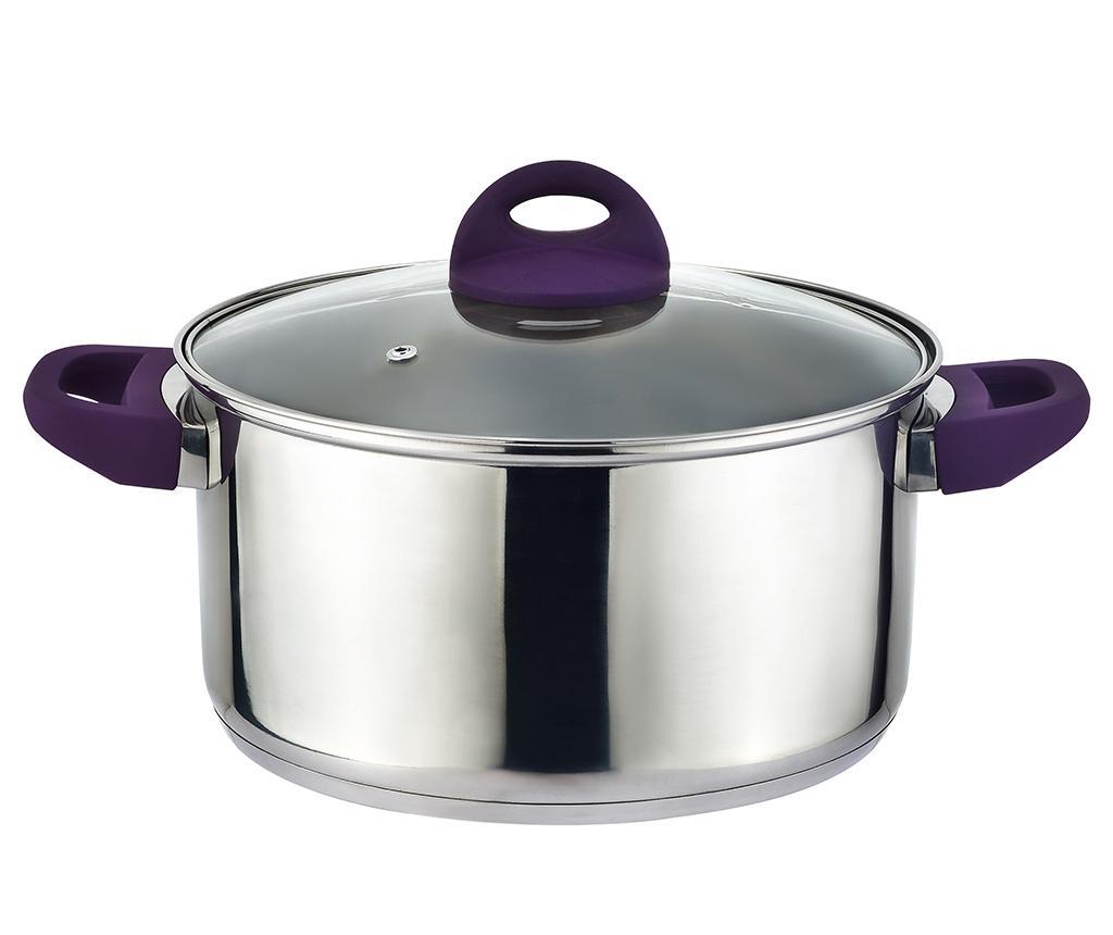 Cratita cu capac Adam Purple 5.4 L imagine