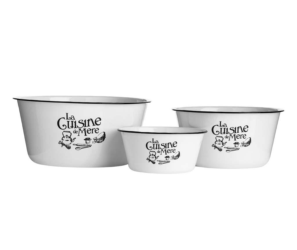 Set 3 boluri La Cuisine Edge - Premier, Alb imagine
