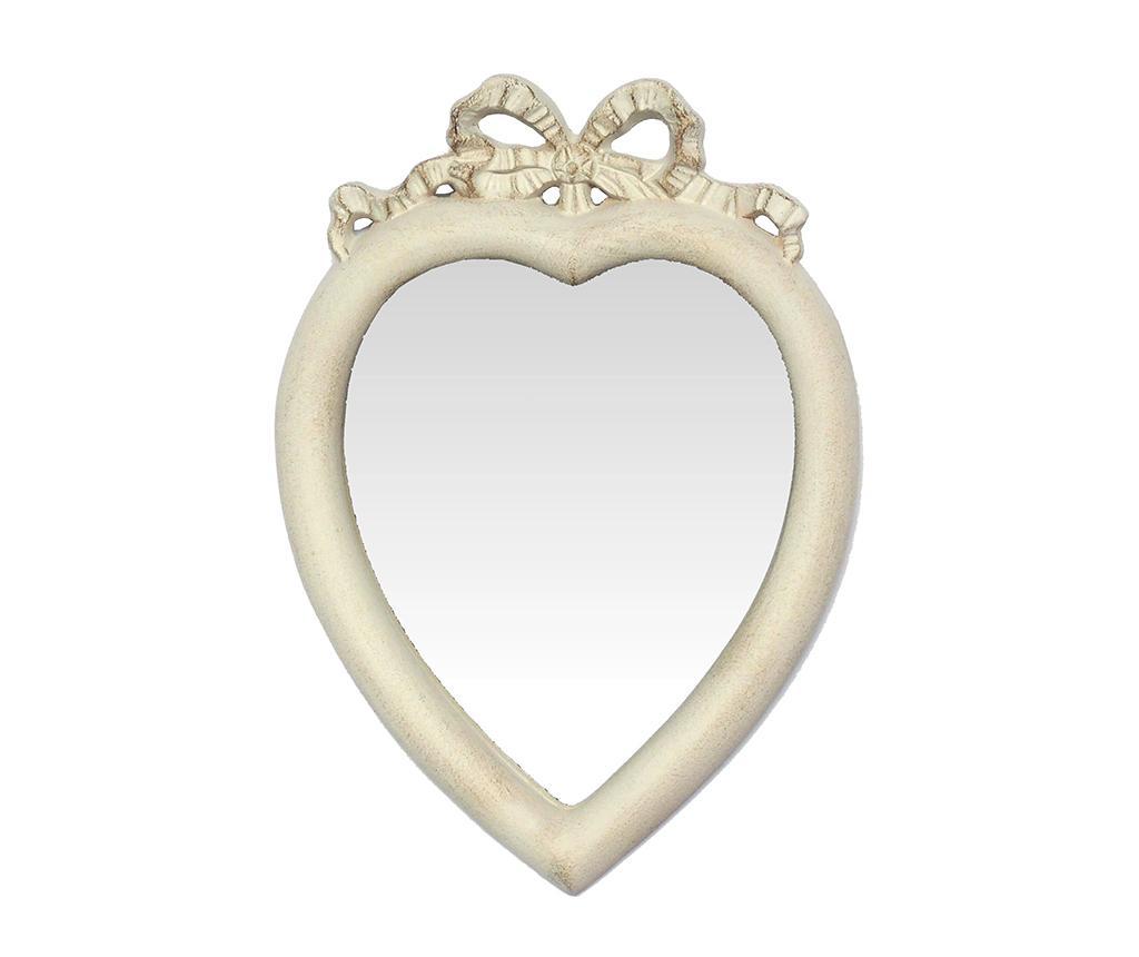 Oglinda Heart Antique White - Bolzonella, Alb