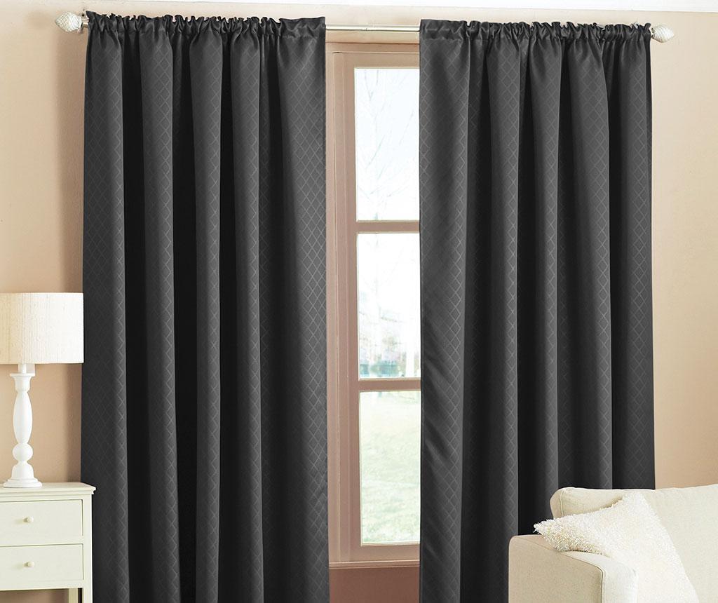Set 2 draperii Blackout Woven Black 168x183 cm