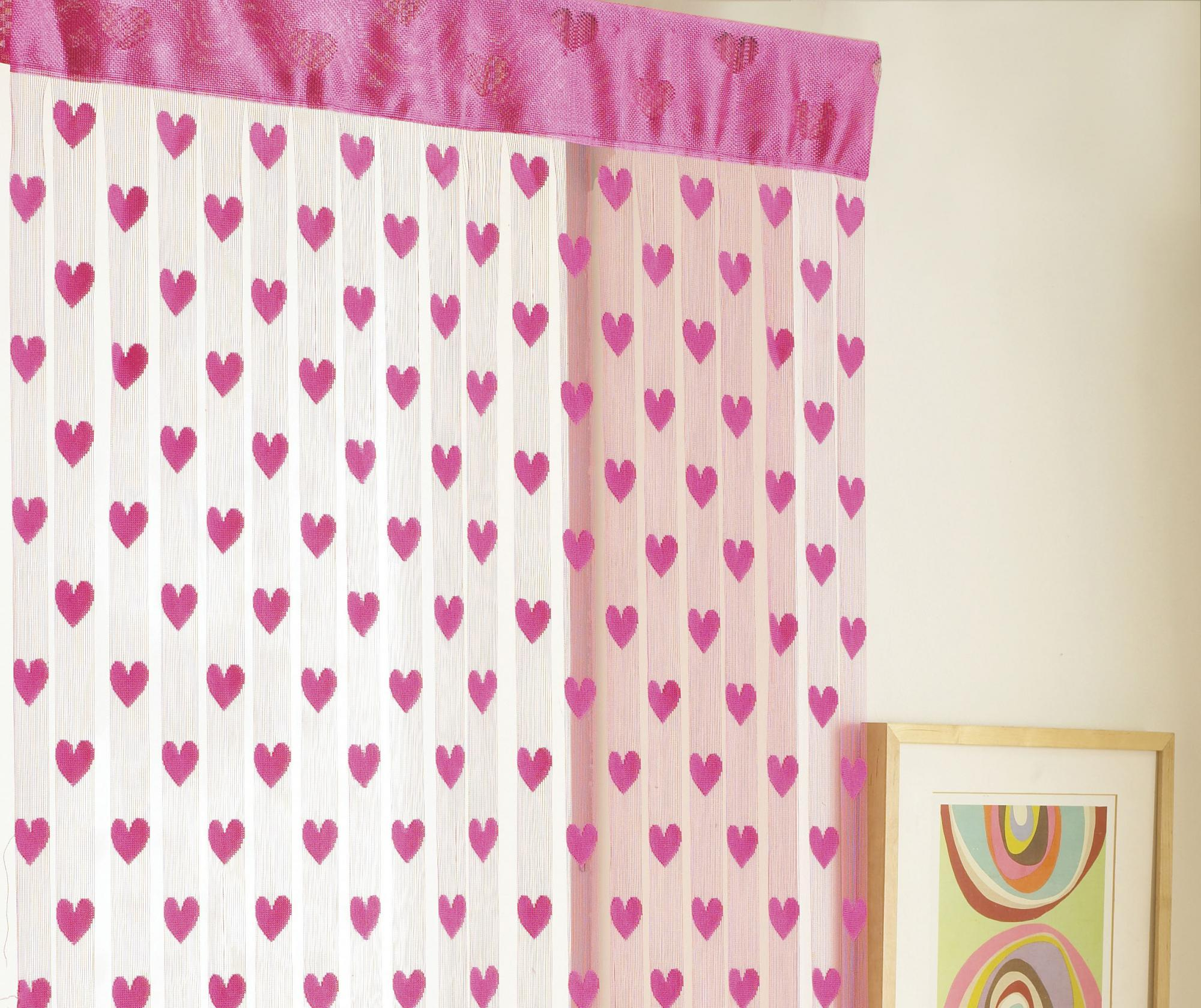 Perdea de usa Hearts Pink 90x200 cm