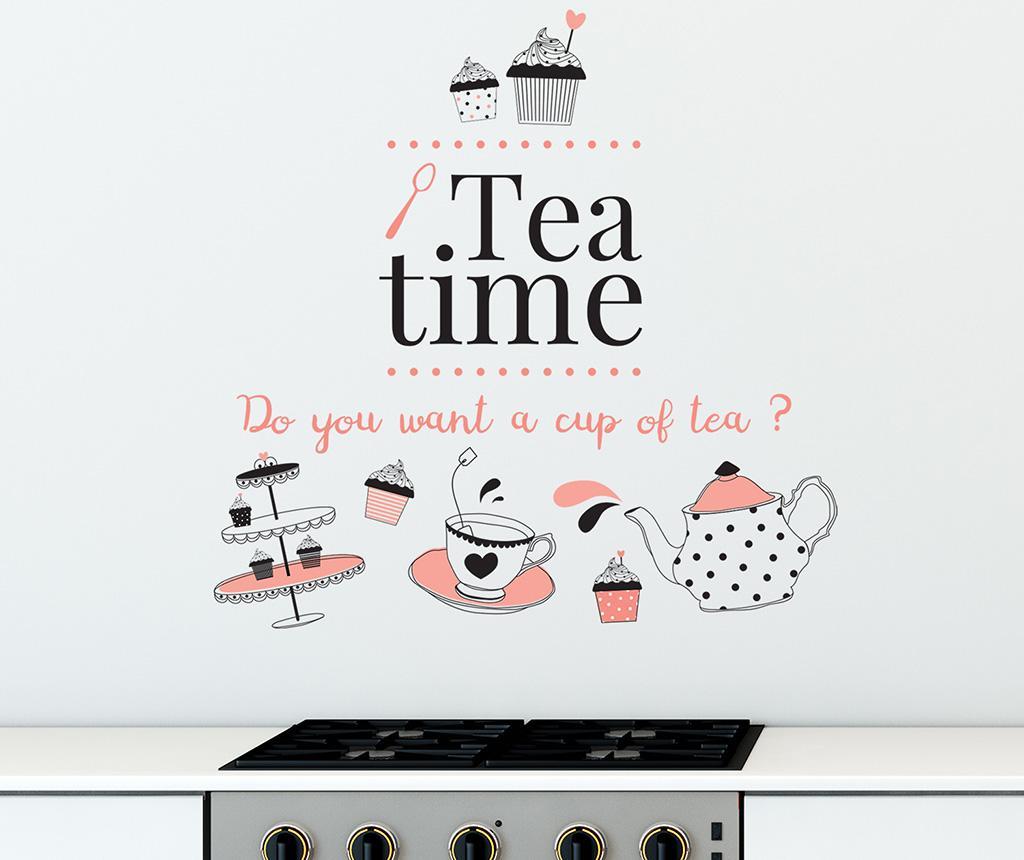 Sticker Coffee or Tea - Wallplus, Alb imagine