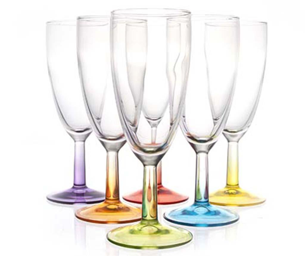 Set 6 pahare pentru sampanie Crazy Colors 140 ml imagine