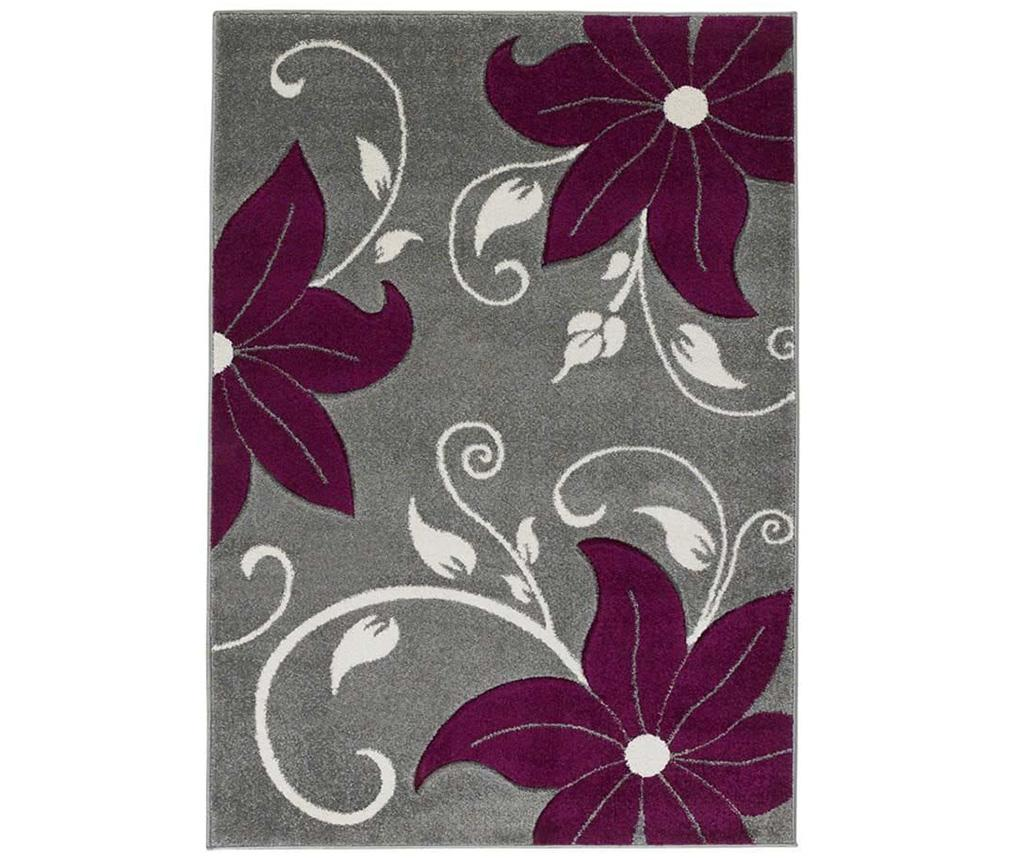 Covor Verona Grey and Purple 80x150 cm - Think Rugs, Gri & Argintiu imagine vivre.ro