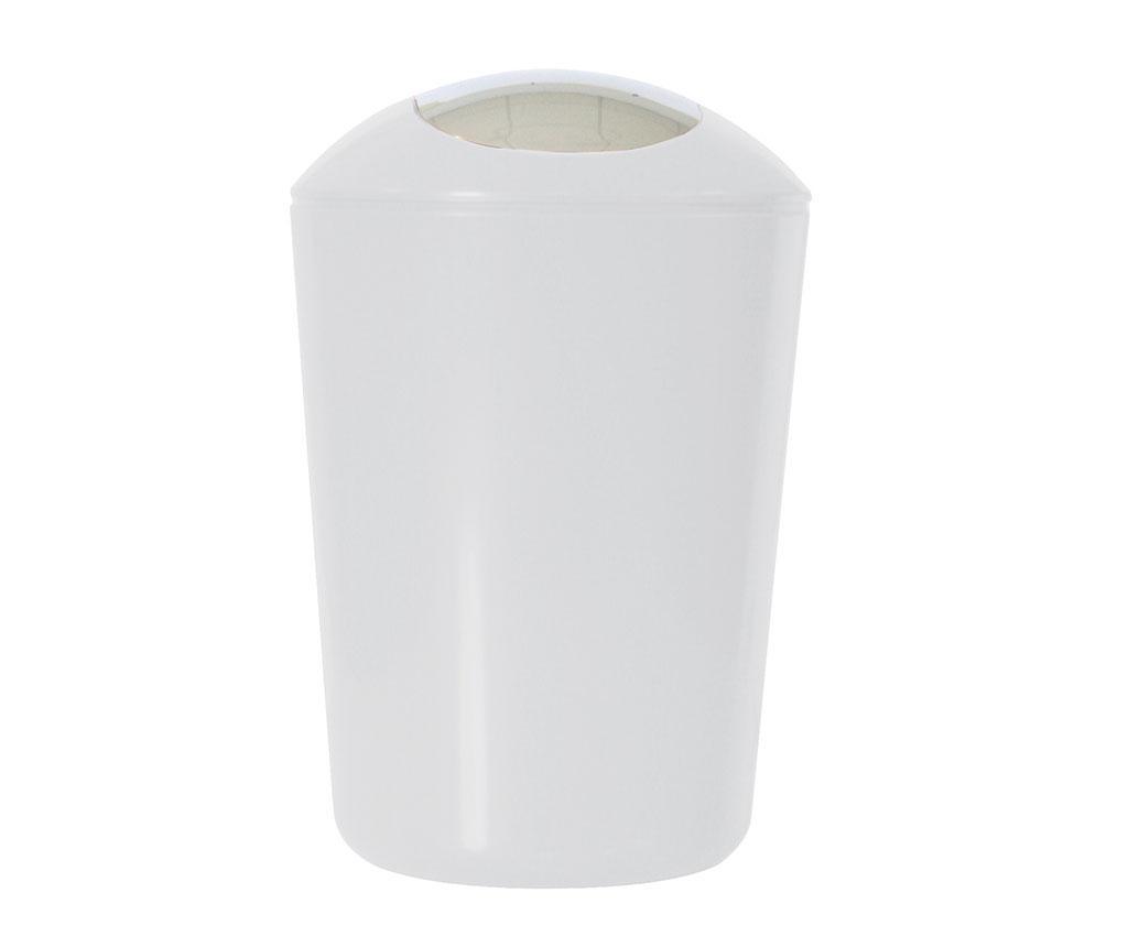 Cos de gunoi cu capac Swing White 5 L - Axentia, Alb imagine