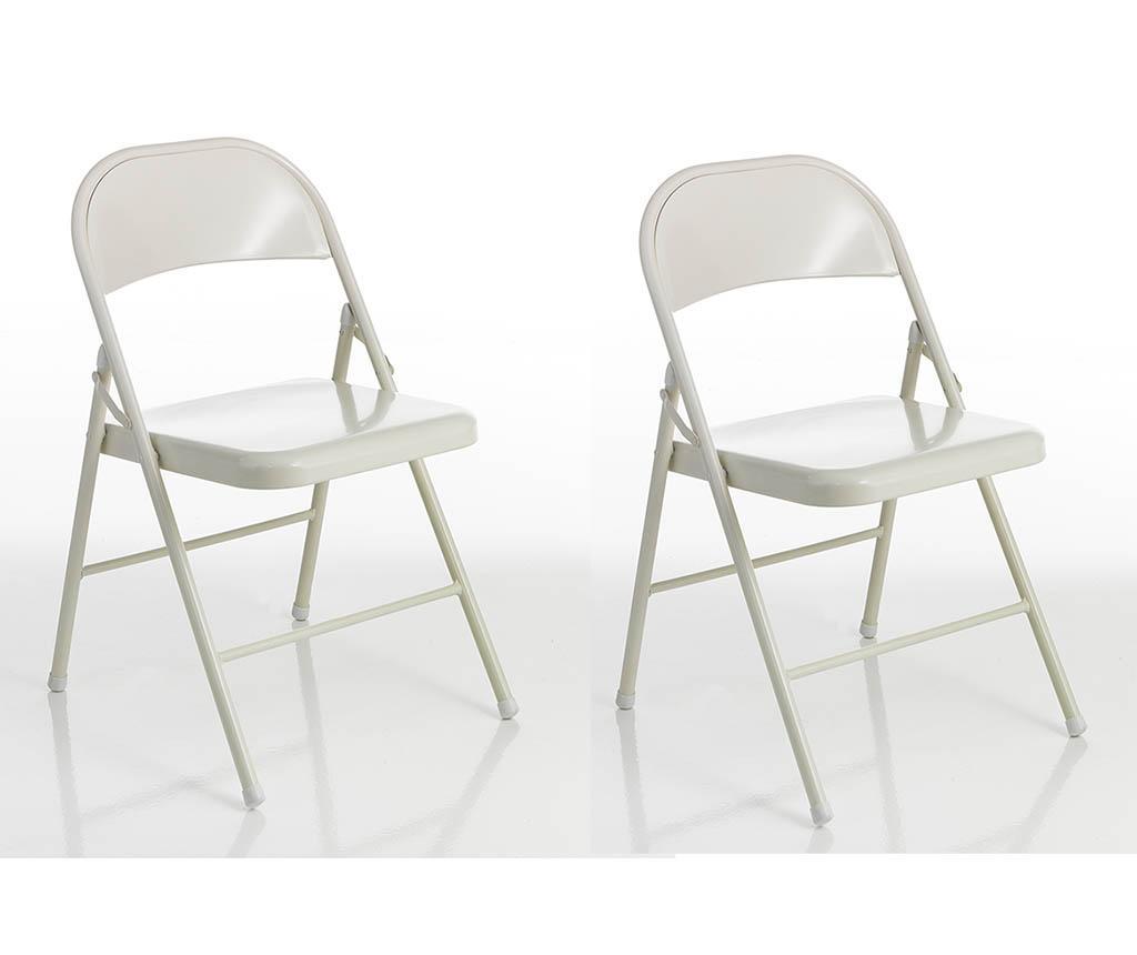 Set 2 scaune pliabile Sekka - Tomasucci, Alb