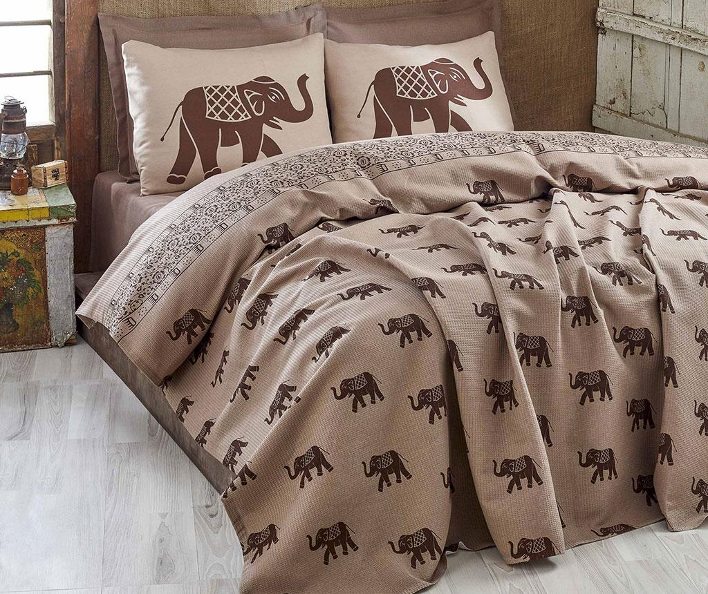 Cuvertura Pique Elephant Brown 200x235 cm - Eponj Home, Maro imagine