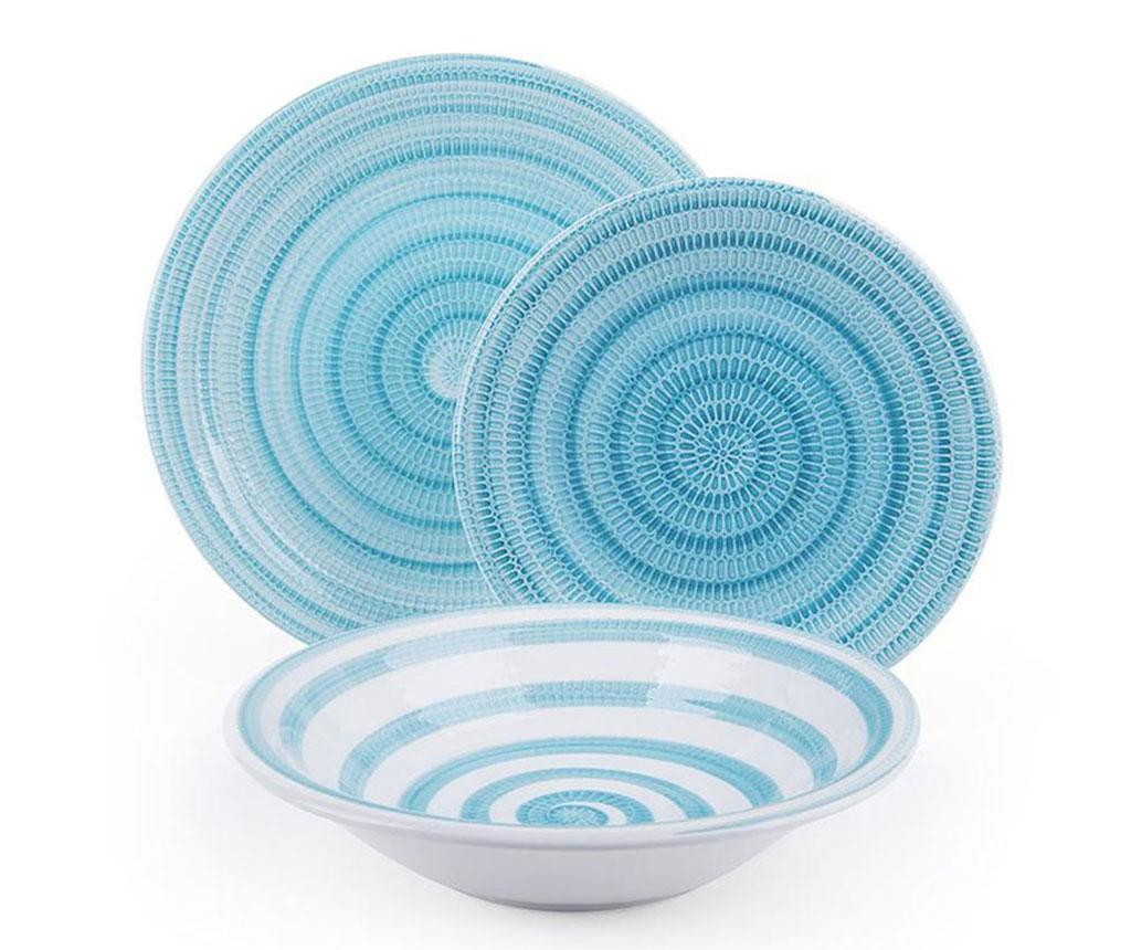 Set de masa 18 piese Old Italy Light Blue - Excelsa, Albastru imagine