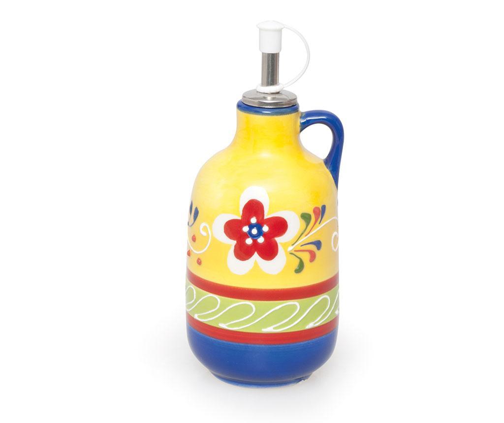 Recipient pentru ulei sau otet Ethnic 400 ml - Excelsa, Galben & Auriu,Multicolor