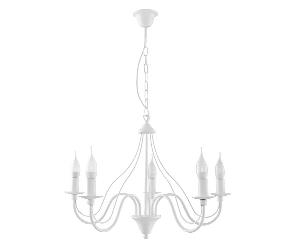 Candelabru Fiorano Five White - Nice Lamps, Alb imagine