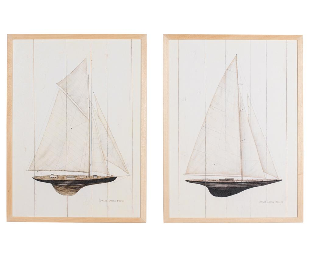 Set 2 tablouri Regata Grande 53x73 cm imagine