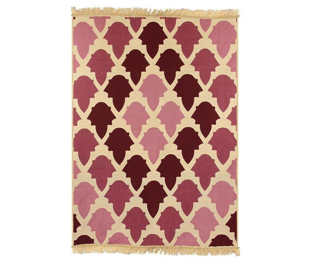 Covor tip pres Baklava Claret Red Pink 80x150 cm imagine