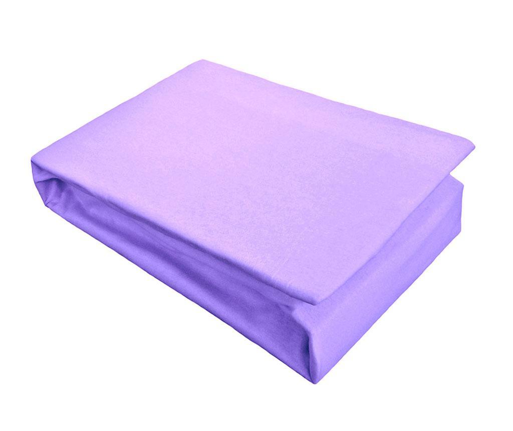 Cearsaf de pat cu elastic Jersey Purple 160x200 cm