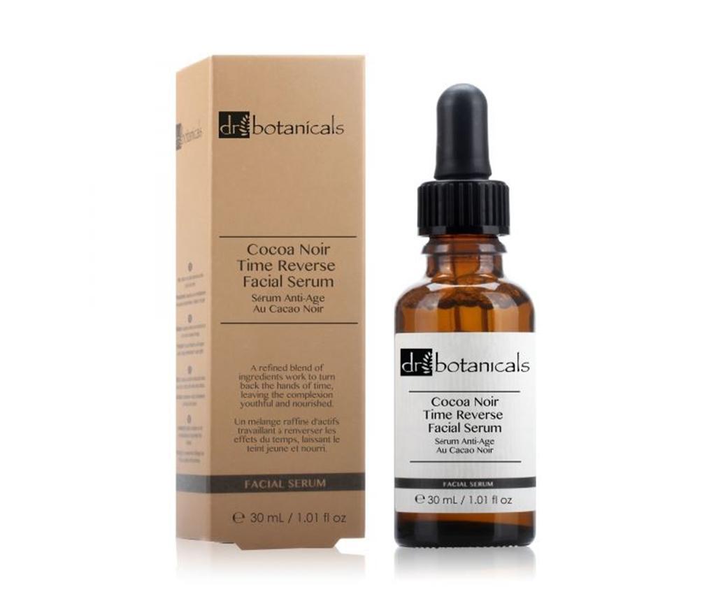 Ser rejuvenant pentru fata Coco Noir Time Reverse 30 ml - Dr Botanicals, Alb imagine