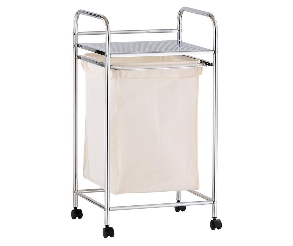 Carucior pentru baie Air - Tomasucci, Gri & Argintiu