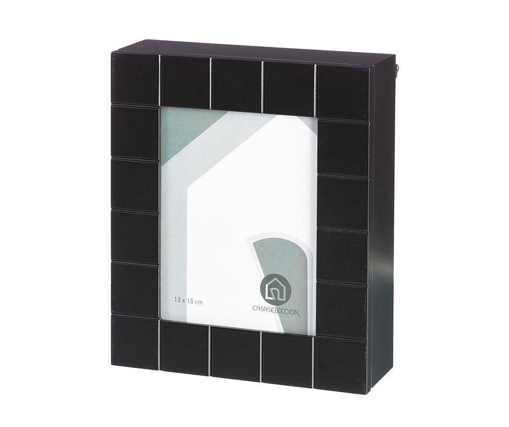 Dulapior pentru chei cu rama foto Black - Casa Selección, Negru imagine