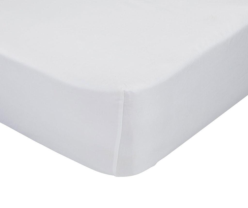 Cearsaf de pat cu elastic Basic White 90x200 cm - Basic, Alb vivre.ro