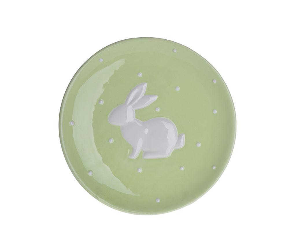 Farfurioara Bunny Dots Light Green
