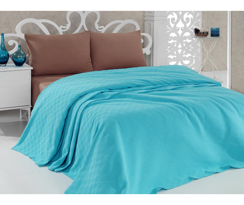Cuvertura Pique Dante Turquoise 220x260 cm