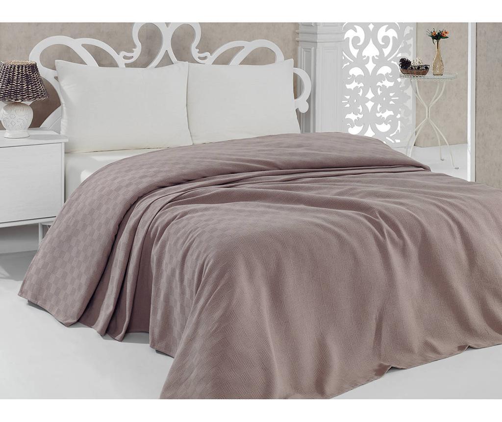 Cuvertura Pique Dante Brown 220x260 cm - Bella Carine by Esil Home, Maro poza