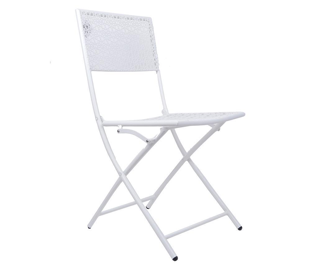 Scaun pliabil pentru exterior Bella White