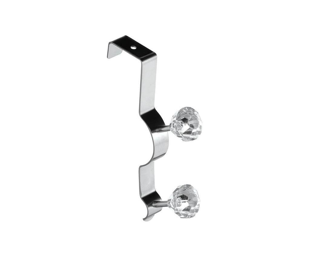 Cuier pentru usa Diamond Smart Duo Clear - Premier, Gri & Argintiu