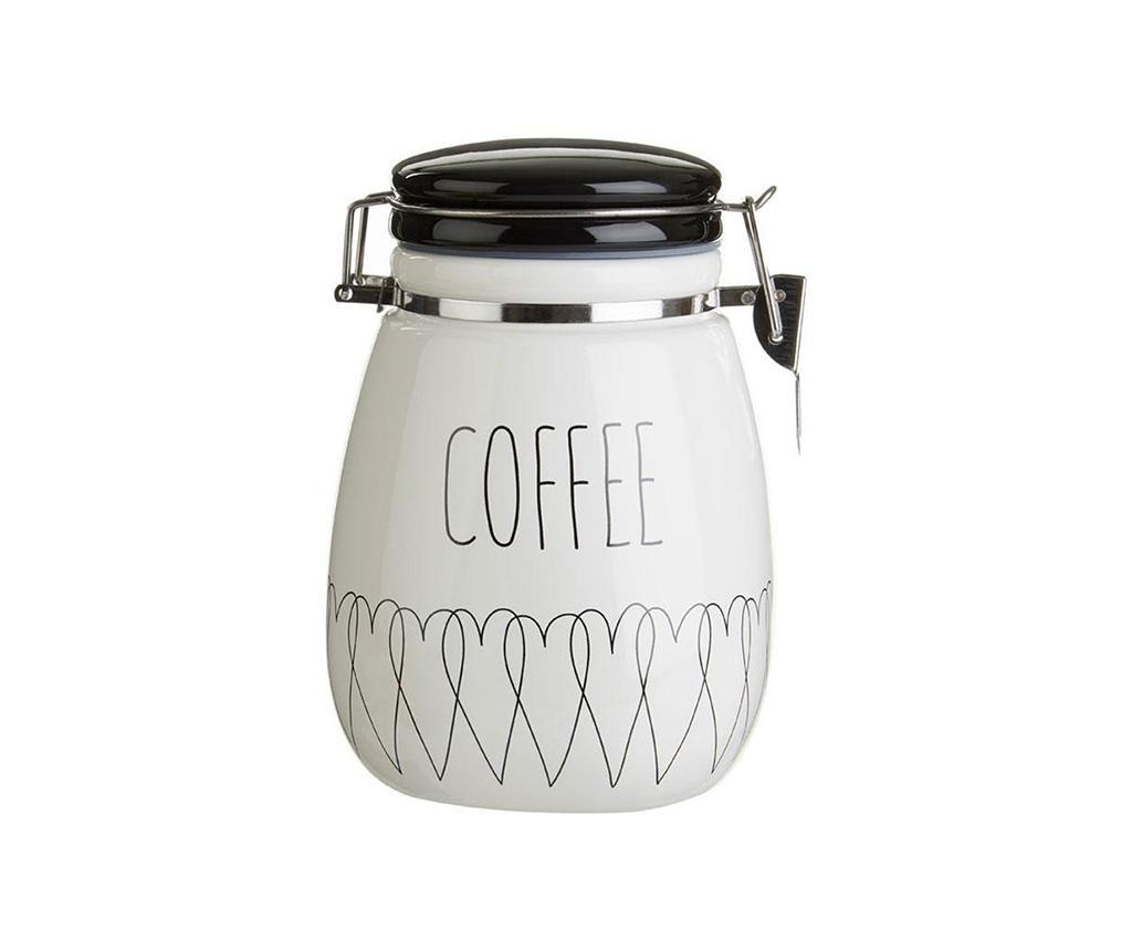 Recipient cu capac pentru cafea Heartlines - Premier, Alb