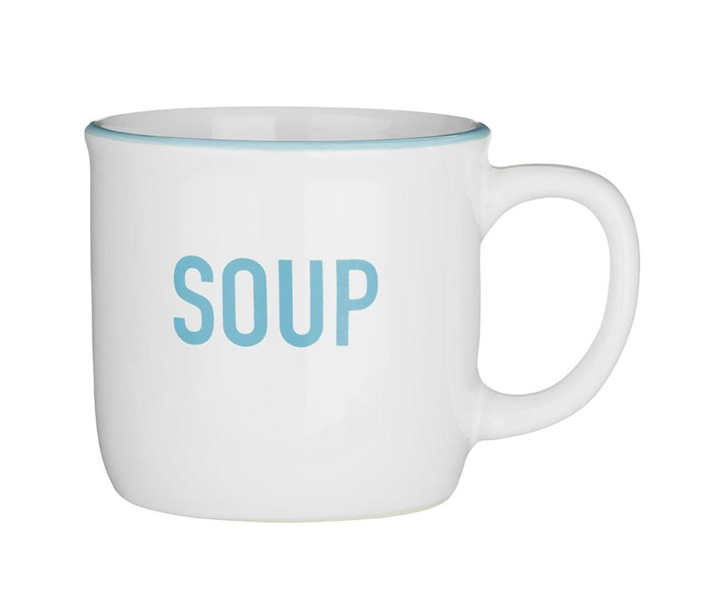 Cana pentru supa White 420 ml