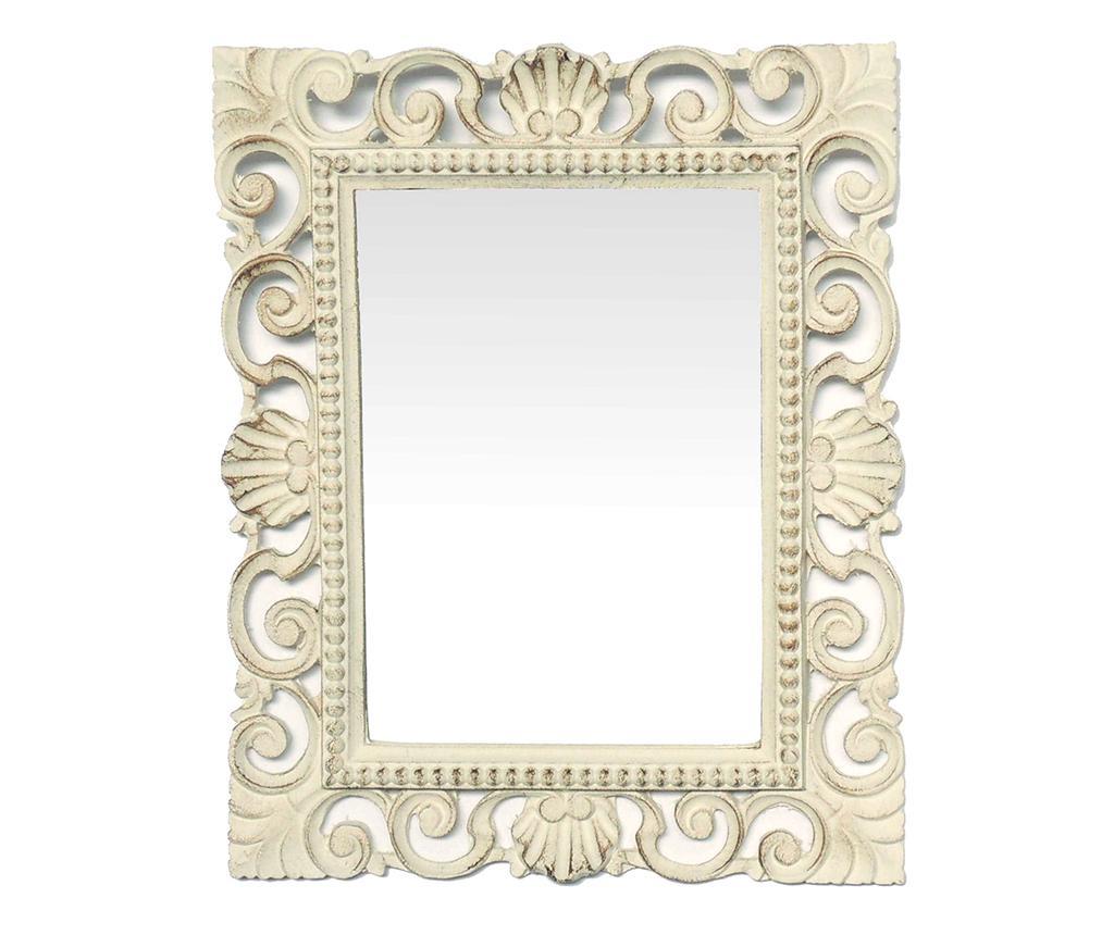 Oglinda Cornice Antique White - Bolzonella, Alb,Crem poza