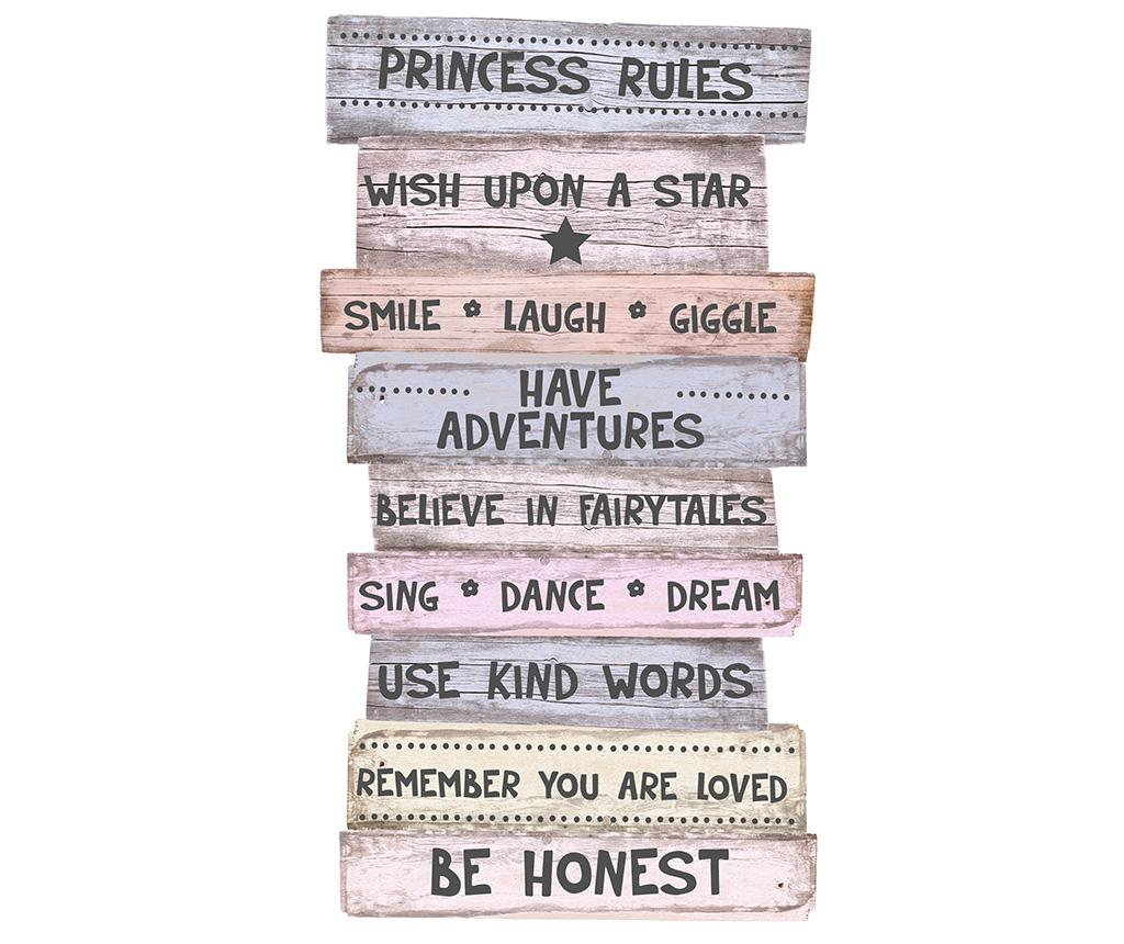 Decoratiune de perete Princess Rules