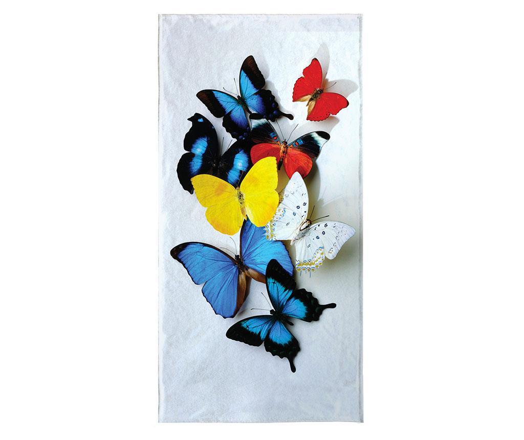 Prosop de plaja Familly Butterflies 80x155 cm