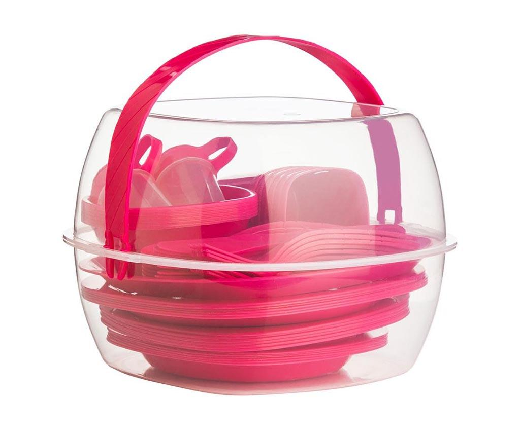 Set 52 piese pentru picnic Fines Pink imagine