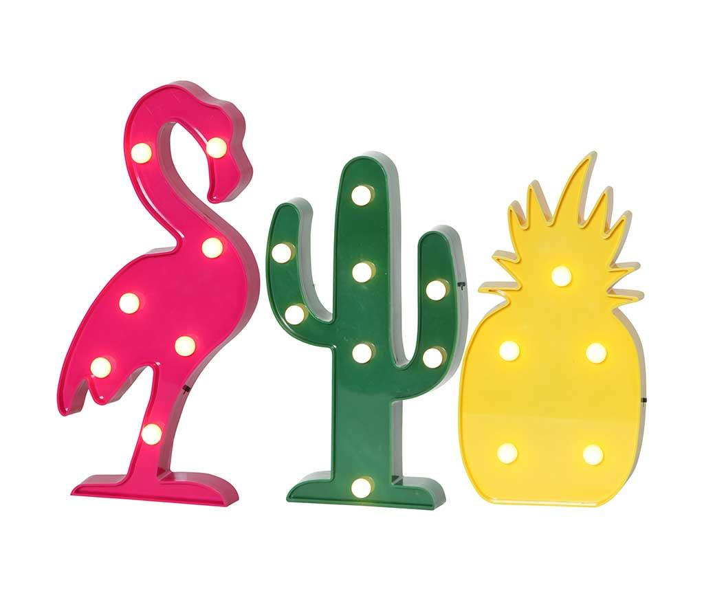 Set 3 decoratiuni luminoase Tropics imagine