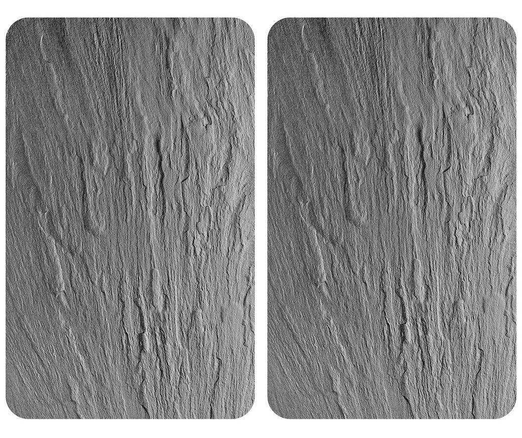 Set 2 planse protectoare pentru plita Grey - Wenko, Gri & Argintiu imagine