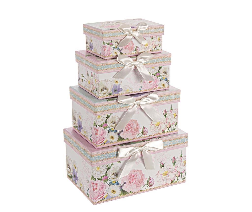 Set 4 cutii cu capac Rose Leda imagine