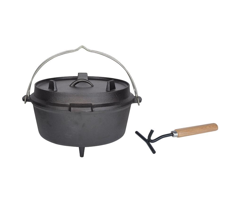 Ceaun cu capac Country Food 6.5 L - Esschert Design, Negru