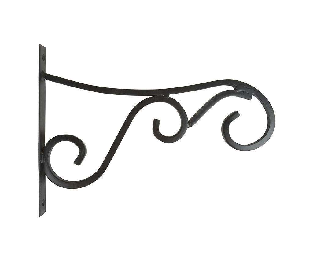 Suport de perete pentru ghiveci Curly L - Esschert Design, Negru