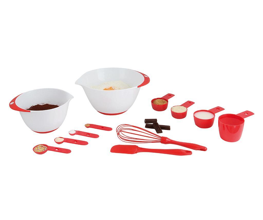 Set pentru copt 12 piese Fun Baking - Kitchen Artist, Rosu poza