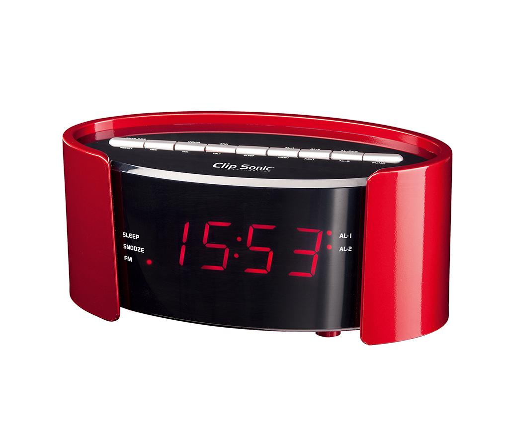 Radio cu alarma Clip Sonic Red