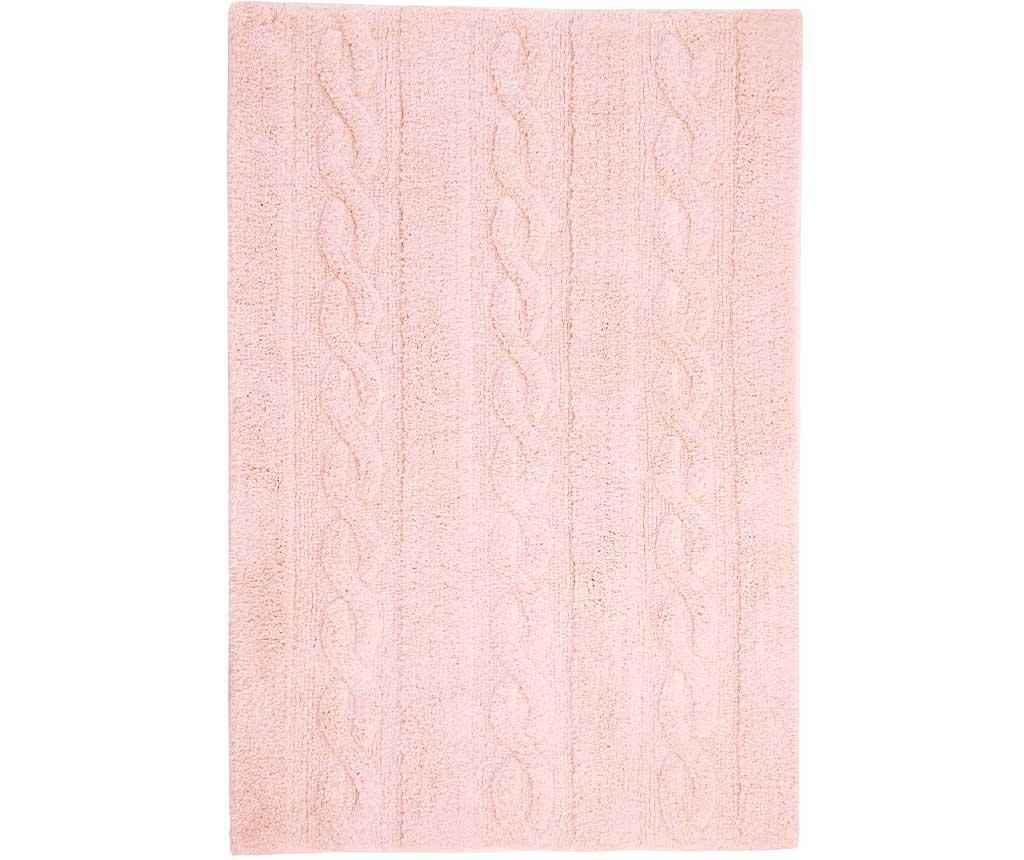 Covor Trenzas Soft Pink 80x120 cm - Lorena Canals, Roz imagine