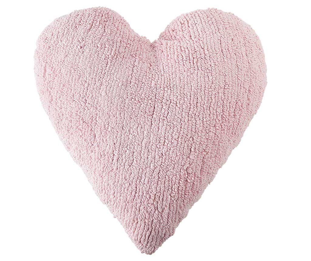 Perna decorativa Heart Pink 47x50 cm imagine