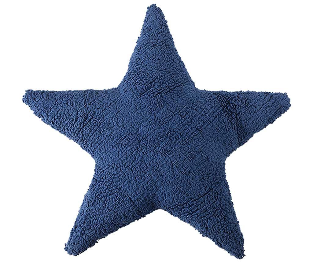 Perna decorativa Star Navy Blue 54x54 cm