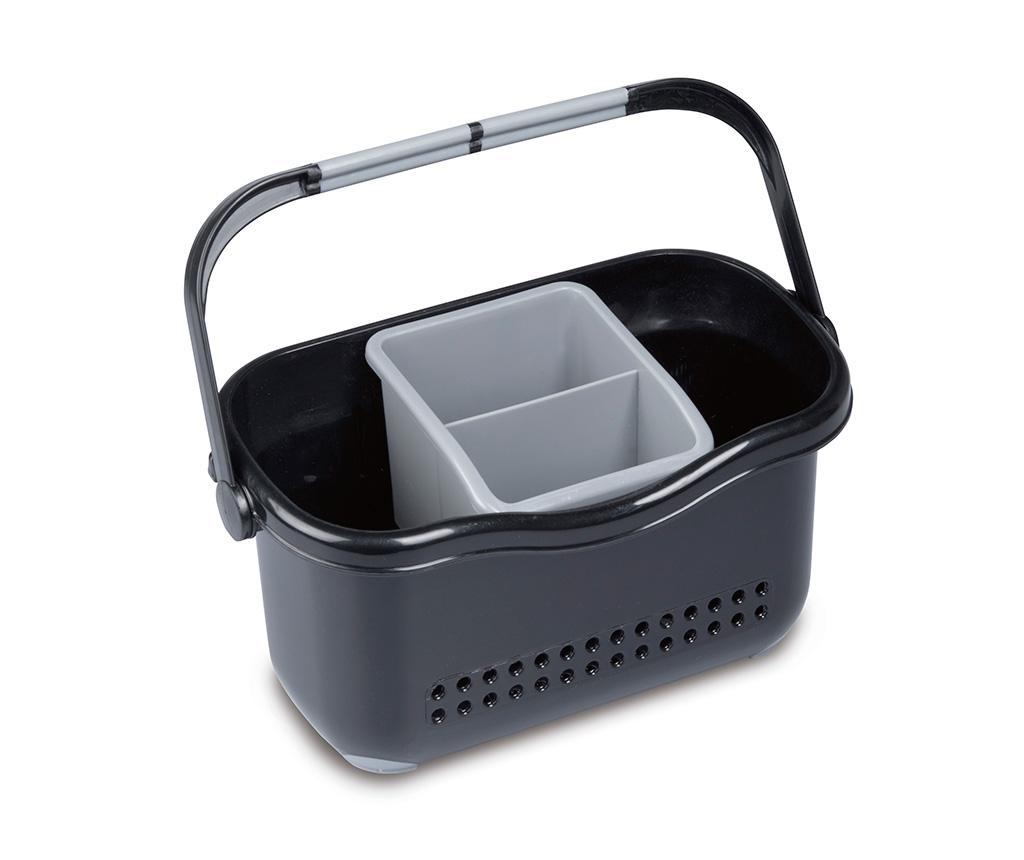 Suport pentru accesorii de bucatarie Caddy Black Grey
