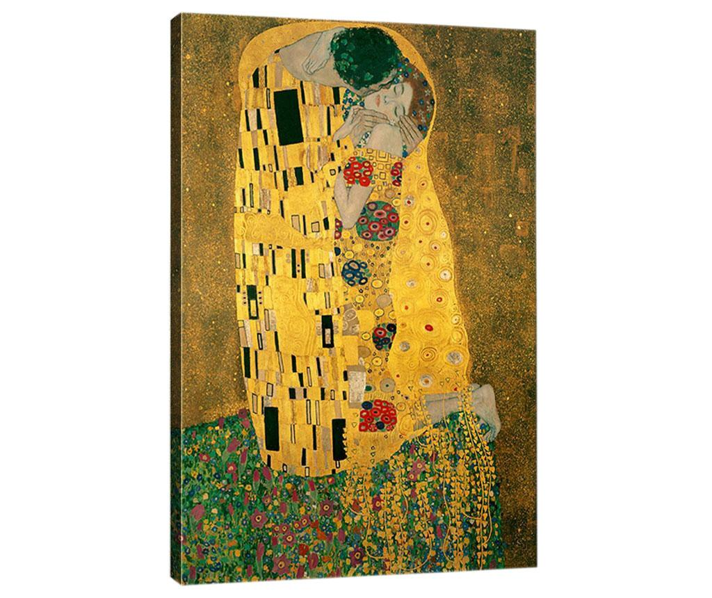 Tablou Klimt Kiss 50x70 cm - Tablo Center, Multicolor imagine