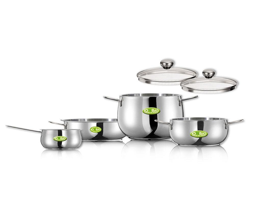 Set vase pentru gatit 6 piese Iobio - INOXRIV, Gri & Argintiu imagine