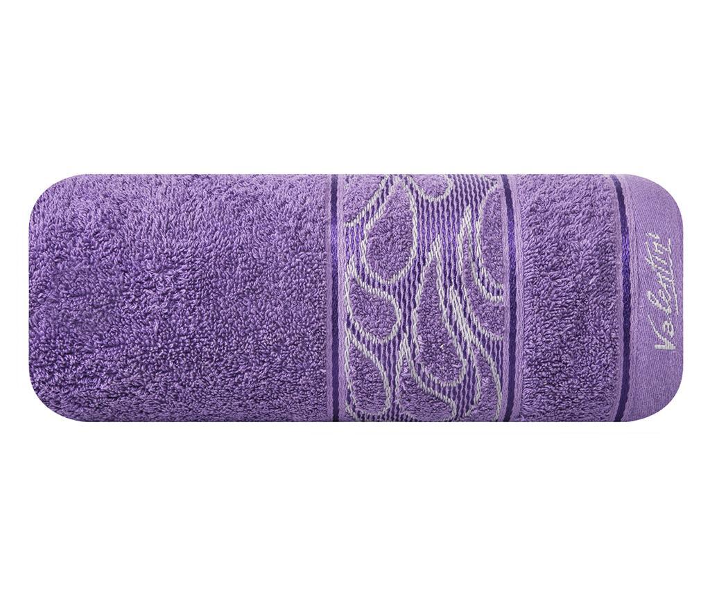 Prosop de baie Eliza Purple 70x140 cm - Eurofirany, Mov
