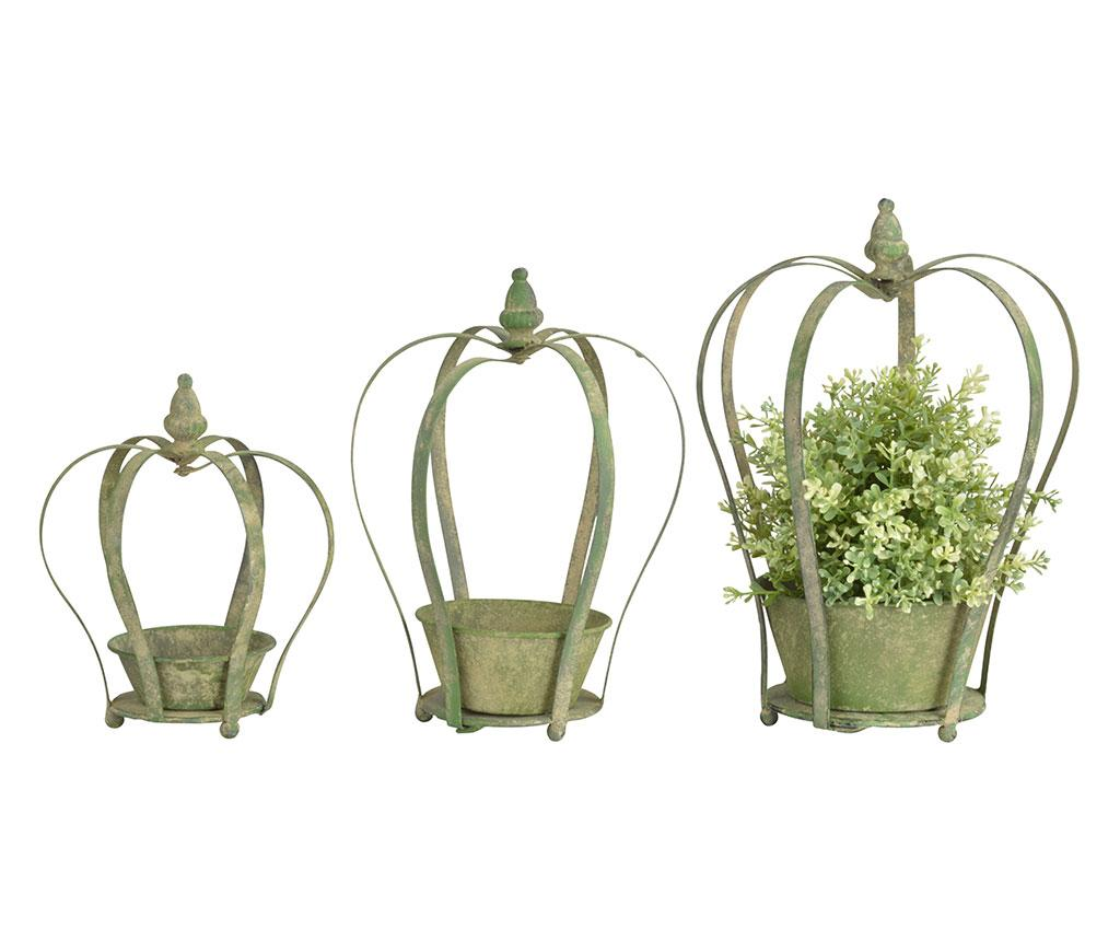 Set 3 ghivece Casimira - Esschert Design, Verde imagine