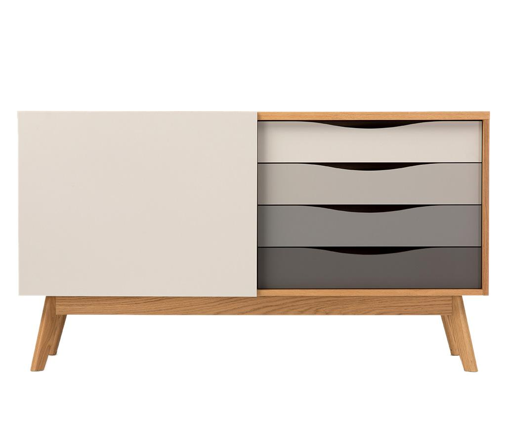Bufet inferior Avona Standard - Woodman, Gri & Argintiu poza
